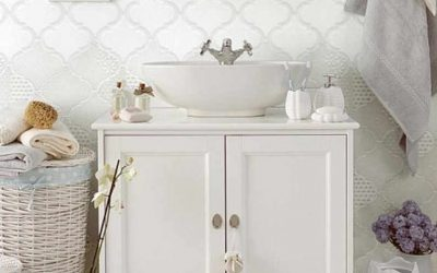 White ceramic tessellations by HRG